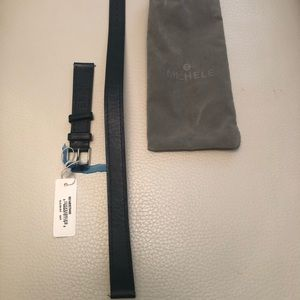 New Michele Leather Double Wrap Strap